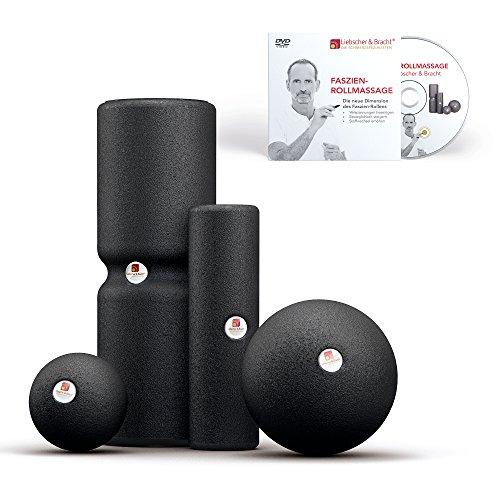 Liebscher und Bracht Set: Faszienrolle und Faszienball (je 2 Stück) zum Faszien-Training von Muskeln, Bindegewebe und Stoffwechsel mit Übungen auf DVD