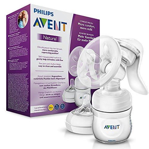 Philips Avent SCF330/20 Komfort-Handmilchpumpe (mit Naturnah-Flasche)