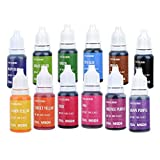 Jelife Lebensmittelfarbe Flüssig Set Lebensmittelfarben Zum Backen Und Küche Hochkonzentriert & Zuckerfrei 12 X 10ml