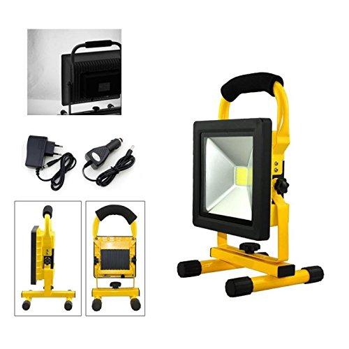 VINGO LED 20w Tragbare 1800LM Strahler handlampe Wasserdicht Fluter Baulicht 4800MA Wiederaufladbare Camping Lampe Kaltweiß High Power