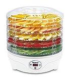 SUNTEC Dörrautomat FDH-8595 Dörthe digital [Schoneneds Trocknen von Lebensmitteln auf 5 Etagen, Temperaturwahl 35-70°C, Timer, LED-Display, max. 240 W]