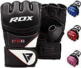 RDX MMA Handschuhe Profi Kampfsport Boxsack Sparring Training Grappling Gloves Freefight Sandsack Maya Hide Leder Punching Handschuhe (MEHRWEG).