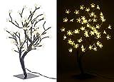 Lunartec LED Bäumchen: LED-Baum mit 64 beleuchteten Blüten, 45 cm, IP44, für innen & außen (LED Lichterbäume)