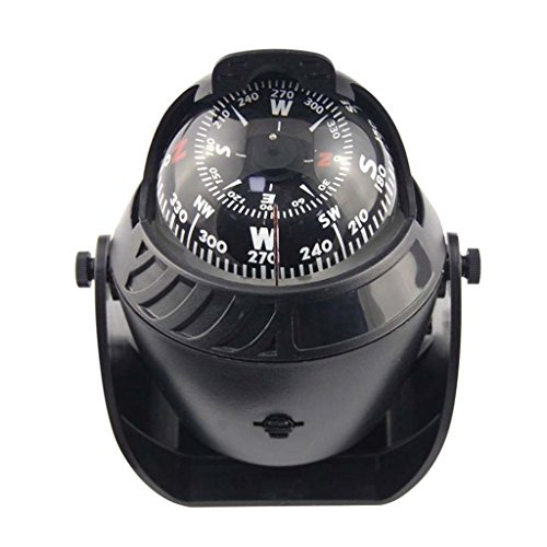 Gazechimp LED Licht Meer Auto LKW Kompass Boot Navigation Bootskompass Einbaukompass