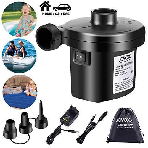 Joycoo Elektrische Luftpumpe Luftmatratze Pumpe Luftpumpe für Luftmatratze Inflator Deflator für Pools Boote Floß Kissen Schwimmring