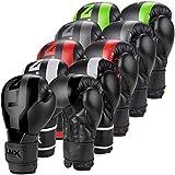 LNX Boxhandschuhe Stealth - Männer Frauen 8 10 12 14 16 Oz - ideal für Kickboxen Boxen Muay Thai MMA Kampfsport UVM Ultimatte Black (002) 10 Oz