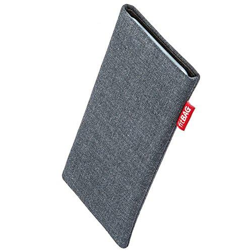 fitBAG Jive Grau Handytasche Tasche aus Textil-Stoff mit Microfaserinnenfutter für Apple iPhone 6 / 6S / 7 | Schlanke Hülle als edles Zubehör mit praktischer Reinigungsfunktion | Rundumschutz | Made in Germany