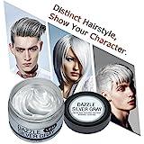 Einmaliges Haarfärbemittel Y.F.M. Silbergrau das Haar selbst färben einfach das Haar glitzern machen auch die Funktion von Haarwachs haben, Color Hair Wax, Haarfarbe Silber Grau, Color Haarwachs