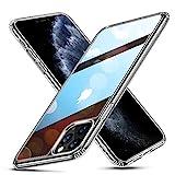 ESR Glas Entwickelt für iPhone 11 Pro Hülle - 9H Panzerglas Rückseite mit TPU Rahmen - Kratzfeste Schutzhülle mit Weichem Silikon Bumper & Stoßabsorption für iPhone 11 Pro-Klar