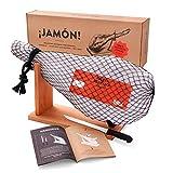 Jamon-Box Nr. 1 - Serrano-Schinken 4,5kg im Geschenkkarton mit Zubehör