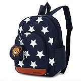 GWELL Stern Babyrucksack Kindergartenrucksack Kleinkind Kinder Rucksack Mädchen Jungen Backpack Schultasche dunkelblau
