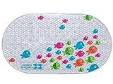 tiddlers & nippers | Kinder Rutschfeste Badematte | Hohe Qualität | Leicht zu reinigen | Cleverer Anti-Rutsch-Saugnapf | Duschmatten für Baby, Kinder und Kleinkind (Freundliche Fisch)