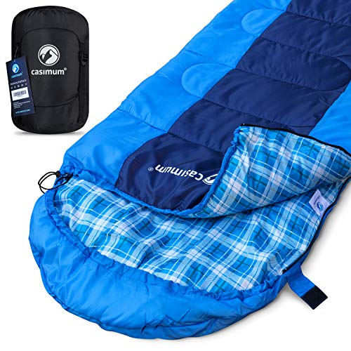 Deckenschlafsack für Outdoor und Camping. Kompakt und warm - Schlafsack ideal für Trekking. Sommerschlafsack für Festival, Komfort bis 10 °C. Survival Sleeping Bag. 220x75 cm