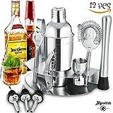 Professionelles Cocktail Set, Edelstahl Cocktailshaker Set, Cocktail Kit Geschenkset, ideal zum Mixen von Getränken, Weihnachten Geschenk