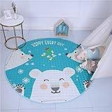 GWELL Kinder Aufräumsack Cartoon Spielmatte Spieldecke Spielzeug Speicher Tasche Kinderteppich Aufbewahrungsbeutel für Kinderzimmer 145cm Bär-2