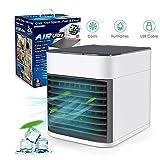 3 in 1 Mini Luftkühler Air Cooler, Sinicyder Mobile Klimaanlage leiser Tischventilator mit Abnehmbarer Wassertank, Tragbare Klimaanlage Luftkühler für Büro, Camping, zu Hause