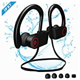 Etmury Bluetooth Kopfhörer Sport, IPX7 Wasserdichte bluetooth sport kopfhörer, 5-7 Stunden Spielzeit,Sportkopfhörer Bluetooth 4.2, In Ear Kopfhörer mit Mikrofon für Mikrofon für iOS/Android