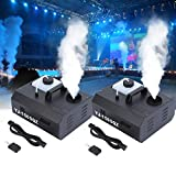 Ridgeyard 2 X 1500W DMX Vertikal-Nebelmaschine Rauchmaschine 2L mit Fernbedienung für Stage Wedding Disco DJ Bar Party Sprühen bis ca. 5m