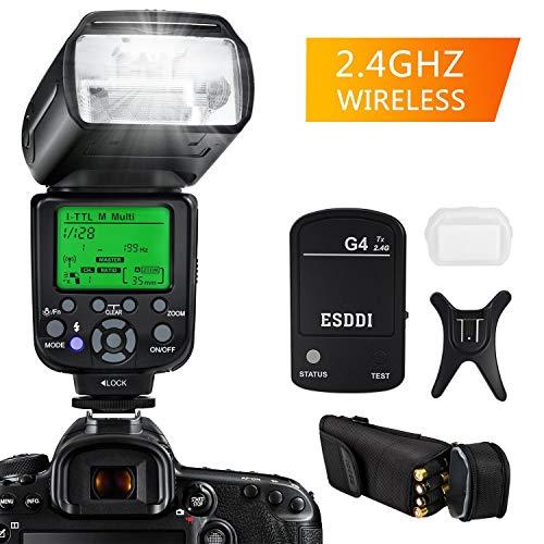 ESDDI Blitzgerät für Nikon, 1/8000 HSS Wireless Flash Speedlite GN58 2.4G Funk Master Slave für Nikon, Professional Blitz Kit mit Wireless Flash Trigger