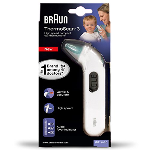 Braun IRT3030 ThermoScan 3 Infrarot Ohrthermometer IRT3030