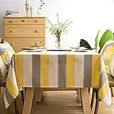 ZAMAC Küche Tischdecke Wasserdicht Esszimmer Dekoration Tischwäsche Abwaschbar Tischtuch Pflegeleicht Rechteck, Gelb, 135x220cm