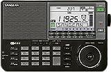 Sangean ATS-909X Weltempfänger (LW/MW/KW/UKW-Tuner, Senderspeicher, ATS, Weltzeituhr, Weckfunktion) inkl. Tasche und Kopfhörer schwarz