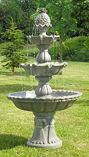 3-stufiger Klassischer Gartenbrunnen Kaskadenbrunnen