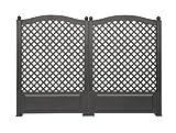 Rank- und Sichtschutz-Spalier 2er Set 140 cm hoch. 2x100 cm breit. anthrazitfarben