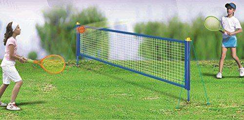 Quickdraw Tennis Set mit 2.4m m Netz Posten Schläger & Bälle Kinder Outdoor Garten Familienspass