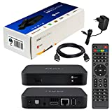 MAG 322w1 Original Infomir & HB-DIGITAL IPTV SET TOP BOX mit WLAN WiFi integriert bis zu 150Mbps (802.11 b/g/n) 1x1 Multimedia Player Internet TV IP Receiver (HEVC H.256 support) Nachfolger von MAG 254 + HB Digital HDMI Kabel