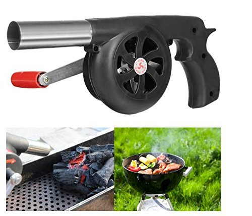 FireAngels manueller Ventilator, Luftgebläse für Grill, Feuer-Balg, Kochen im Freien, Picknick, Camping, Handkurbel-Gerät