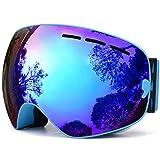 TUONROAD Skibrille, Schneebrille, Snowboardbrille, Snowboard Wintersport Brille, Doppel-Objektiv UV-Schutz Anti-Nebel für Herren Damen Jungen Skifahren Snowboarden Snowmoblie …
