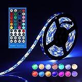 LEN LED Strip 5m - LED Stripes 5m Wasserdicht 300LEDs RGBW LED Band - LED Lichterkette mit Fernbedienung und Netzteil