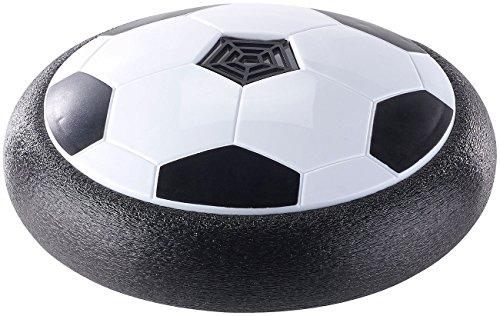 Playtastic Fußballscheibe: Schwebender Luftkissen-Indoor-Fußball mit Möbelschutz und Farb-LEDs (Luftkissenball)