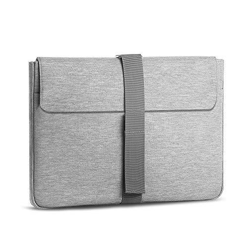 A Tailor Bird Laptophülle, Laptoptasche 13-14 Zoll Ultrabook Notebook Handtasche Schutzhülle stoßfest Notebooktasche Laptop Schutztasche(Grau)