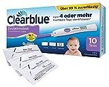 Clearblue digitaler Ovulationstest 2.0 mit dualer Hormonanzeige + 5 One+Step Schwangerschaftstests 10 miu