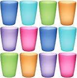 idea-station NEO Kunststoff-Becher 12 Stück, 250 ml, mehrweg, bruchsicher, bunt, farbig, stapelbar, Party-Becher, Plastik-Becher, Mehrweg-Becher, Wasser-Gläser, Trink-Gläser