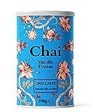 Chai Latte Tee (398g) Flavour Vanilla Dream: Instant-Chai Tee Latte-Mischung in Pulverform, ein würziger schwarzer Tee mit Milch, zu genießen zu Hause oder im Café, reicht für 15 Tassen