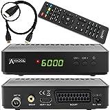 Anadol HD 202c digitaler Full HD Kabel Receiver für digitales Kabelfernsehen inkl. HDMI Kabel (HDTV, DVB-C / C2, HDMI, SCART, Mediaplayer, USB 2.0, 1080p) [automatische Installation] - schwarz