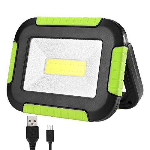 LE Campinglampe aufladbare Arbeitslampe akkulampe Powerbank Scheinwerfer, Flutlicht Scheinwerfer, Warnlicht, Notfalllampe, Reparaturlampe, tragbares Flutlicht, 3 Lichtmodi, 1000lm