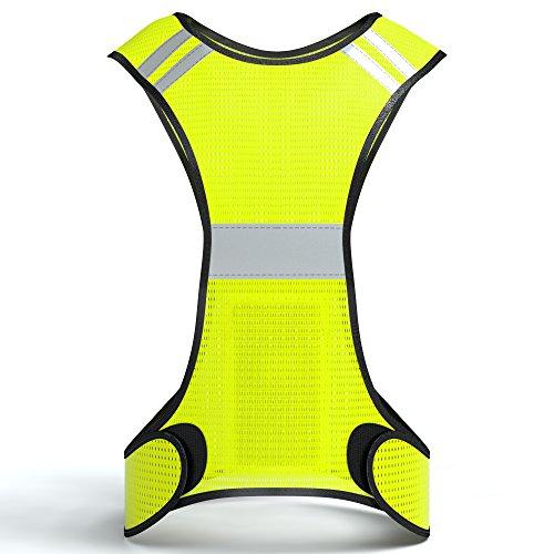 Reflektorweste, Sicherheitsweste, flexibel einstellbar I Warnweste mit Reflektoren, atmungsaktiv I reflektierende Weste, ideal zur Erhöhung der Sichtbarkeit im Straßenverkehr, von EAZY CASE, Neon Gelb