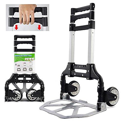 Yaheetech Sackkarre Alu Sackkarre klappbar bis 80 kg Sackkarre klappbare Handkarre Transportkarre Alu-Karre