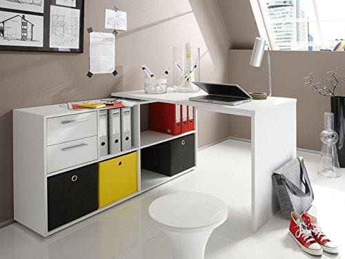 Eckschreibtisch Winkelkombination Schreibtisch Arbeitstisch Bürotisch 'Yihabo I' in weiß