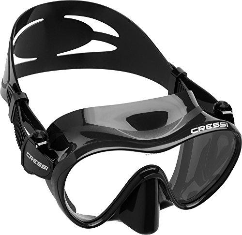 Cressi Unisex Tauchmaske F1, schwarz, one size, ZDN282000