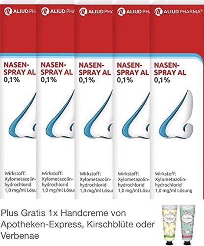Nasenspray AL 5 x 10 ml - Sparpackung - inklusive Handcreme von Pharmaverde