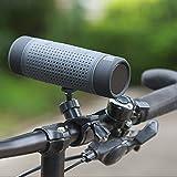 SueSupply Bluetooth Fahrrad Lautsprecher Bluetooth Spritzwassergeschützter Tragbarer Lautsprecher Subwoofer, Portabel für die Benutzung draußen, Beim Sport Oder Campen,Grau
