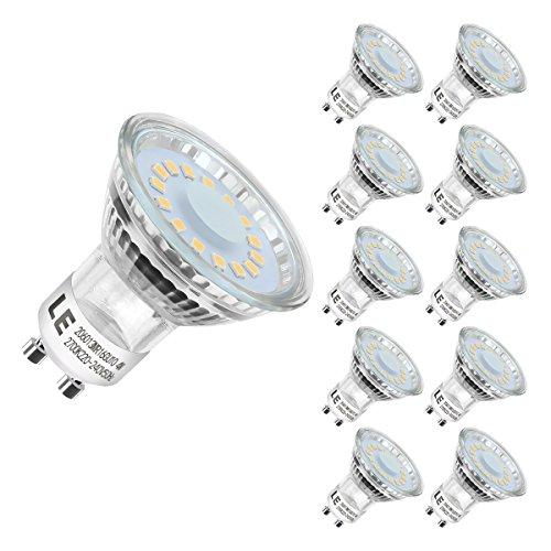 Lighting EVER 200060-WW-EU-10 -LED Leuchtmittel, GU10, 4W, 50Watt Warmweiß