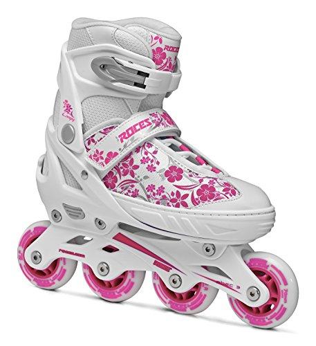 Roces Mädchen Inline-skates Compy 8.0, white-violet, 34-37, 400809