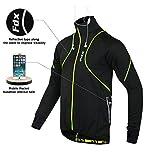 FDX Herren Hochleistungsjacke, Thermo-Windjacke zum Laufen und Fahrradfahren, gute Sichtbarkeit, FDX-310-15, schwarz / gelb, xl
