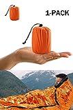 Notfall-Zelt, Survival Schlafsack, Notfall Outdoor Tube Zelt mit Ultraleicht hitzeabweisend Kälteschutz